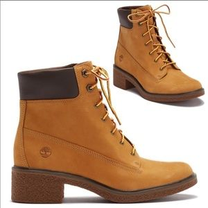 NWOB TIMBERLAND Brinda Leather Lace-up Boots sz 10